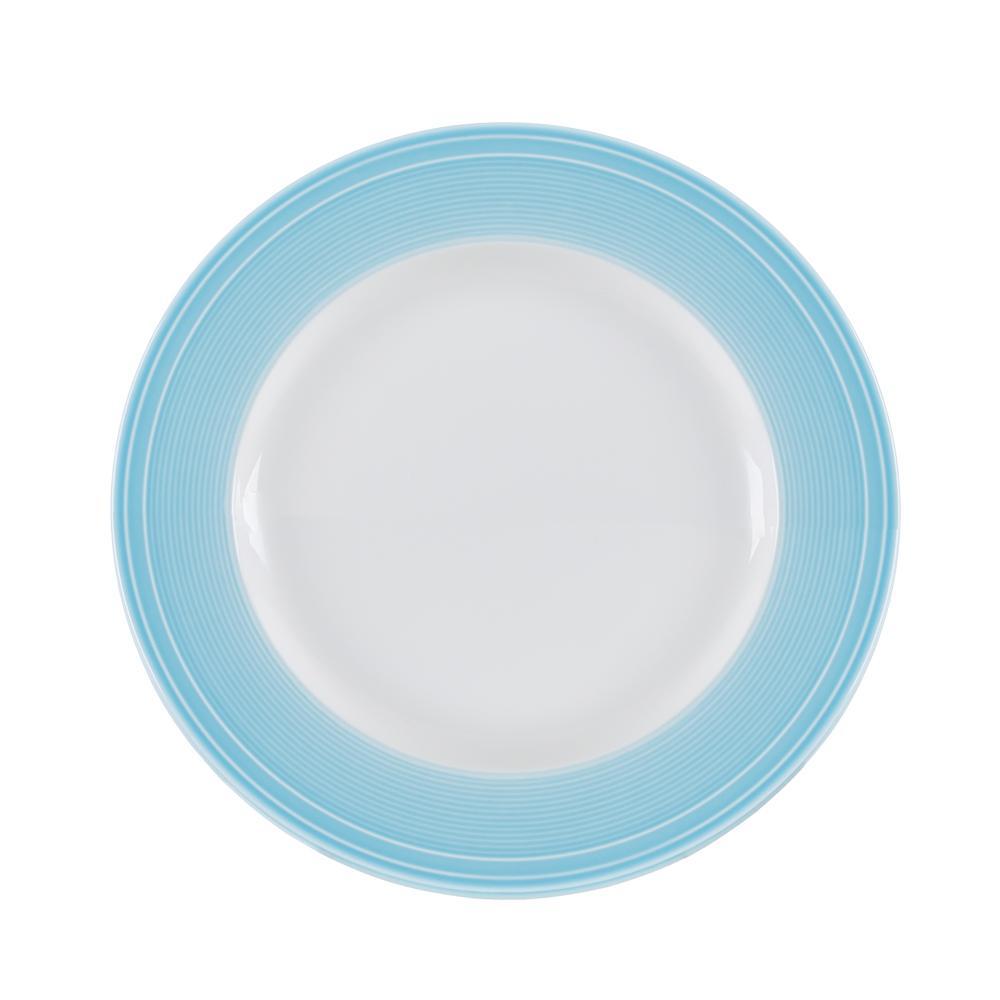 Conjunto de 4 Pratos para Sobremesa em Porcelana 21cm Breeze Kenya Azul