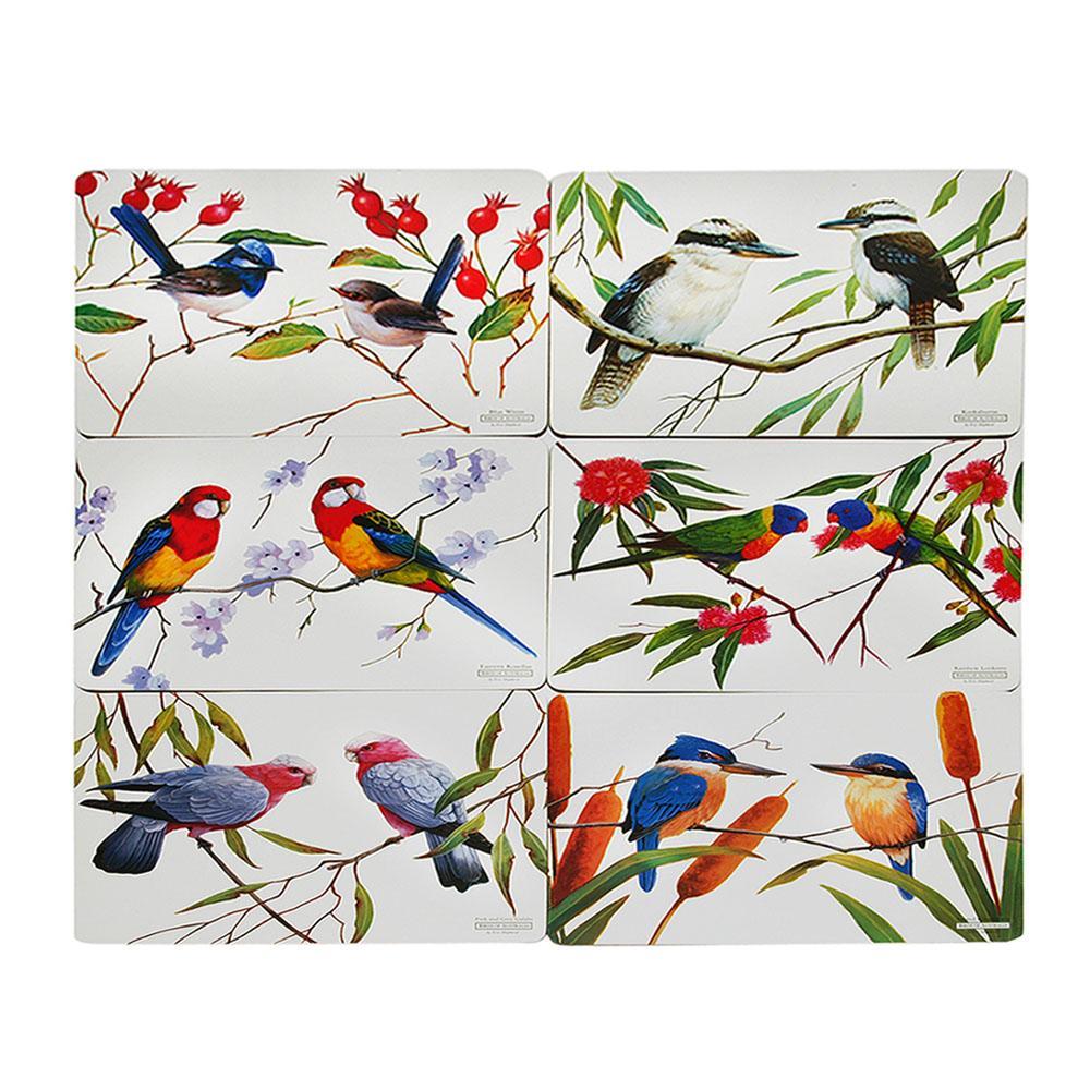 Conjunto de Jogo Americano 6 Peças em MDF Birds Maxwell & Williams