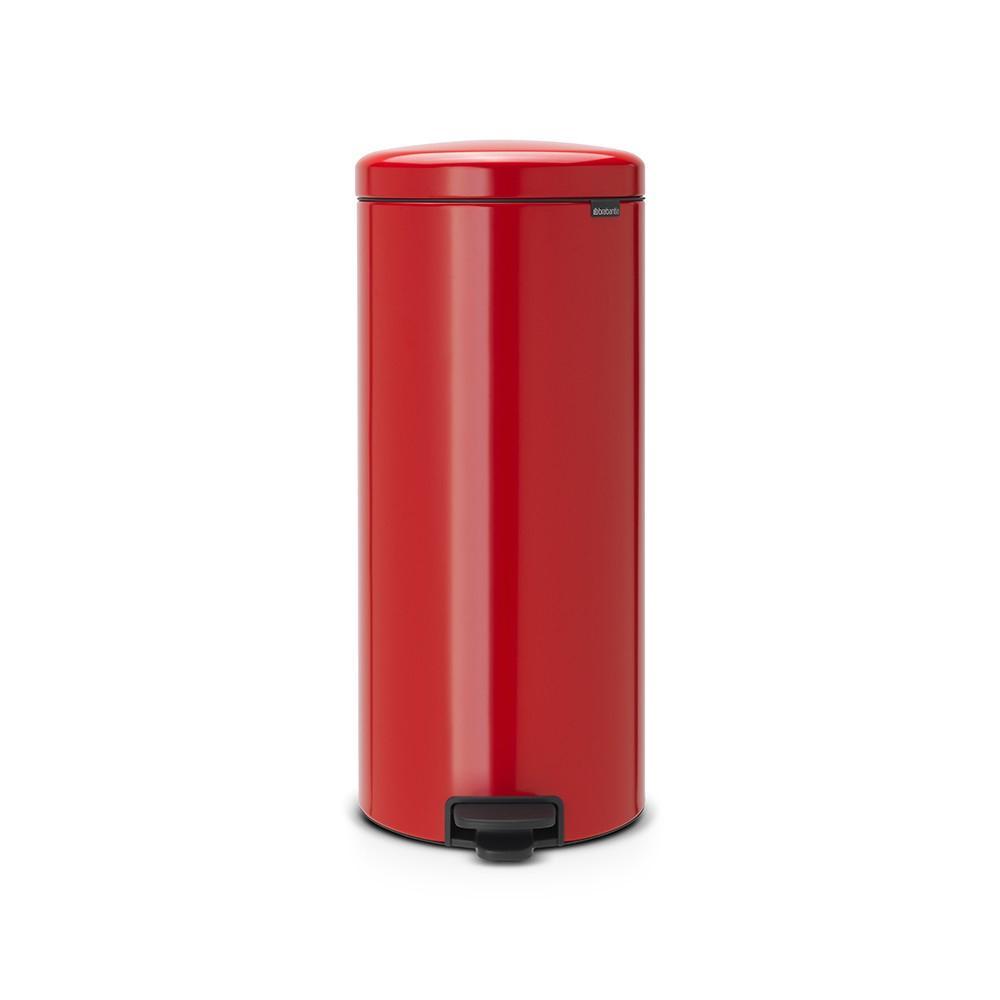 Lixeira em Aço Inox 30 Litros New Icon Brabantia Vermelha