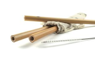 Canudos de Bamboo 3 Peças Bento Store