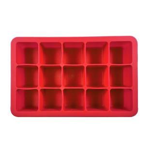 Forma para Gelo em Silicone 15 Cubos Kenya Vermelha