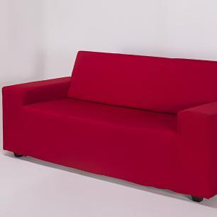 Capa de Sofá 2 Lugares Lisa Vermelha