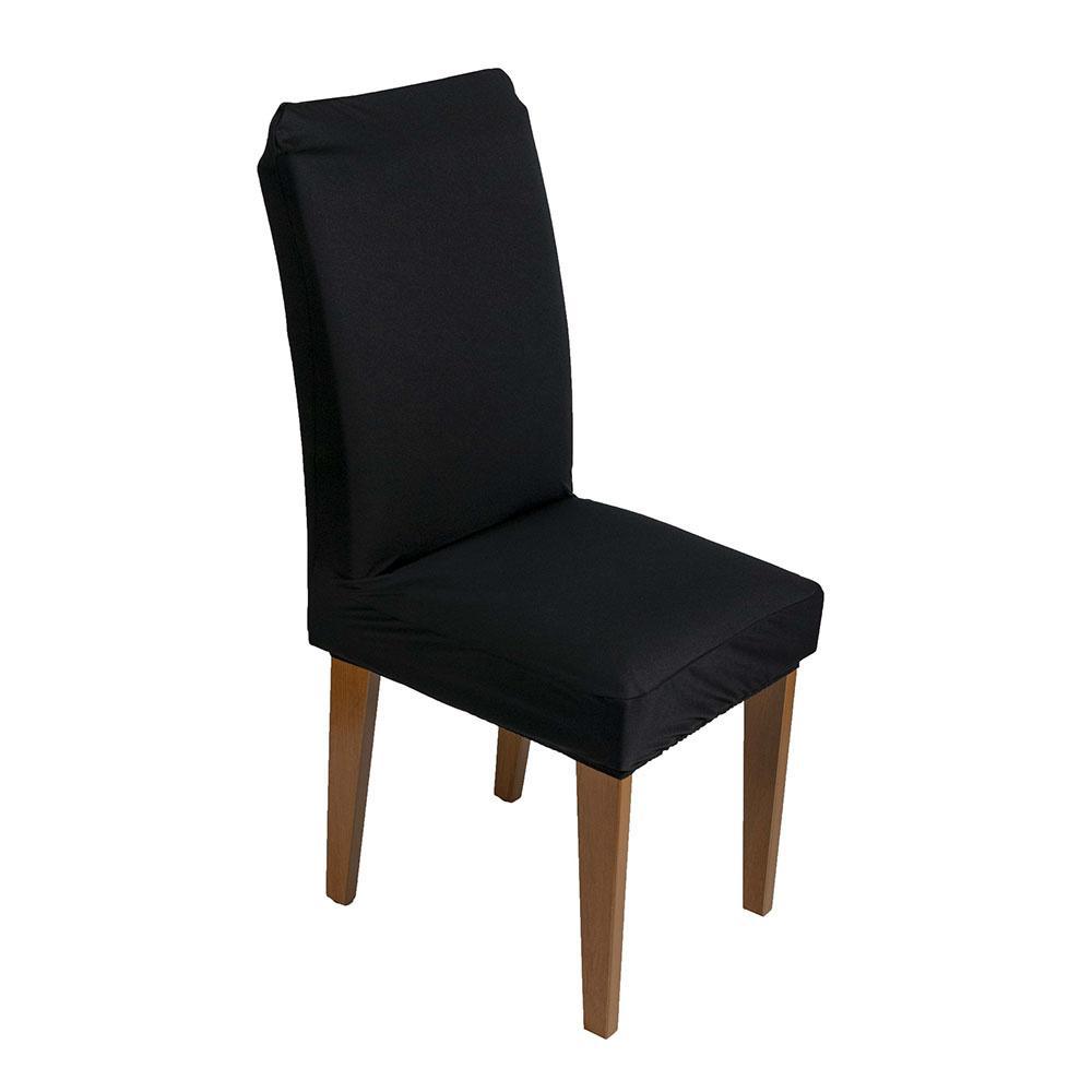 Capa De Cadeira Guilherme Confecções Kit 4 Peças Preto