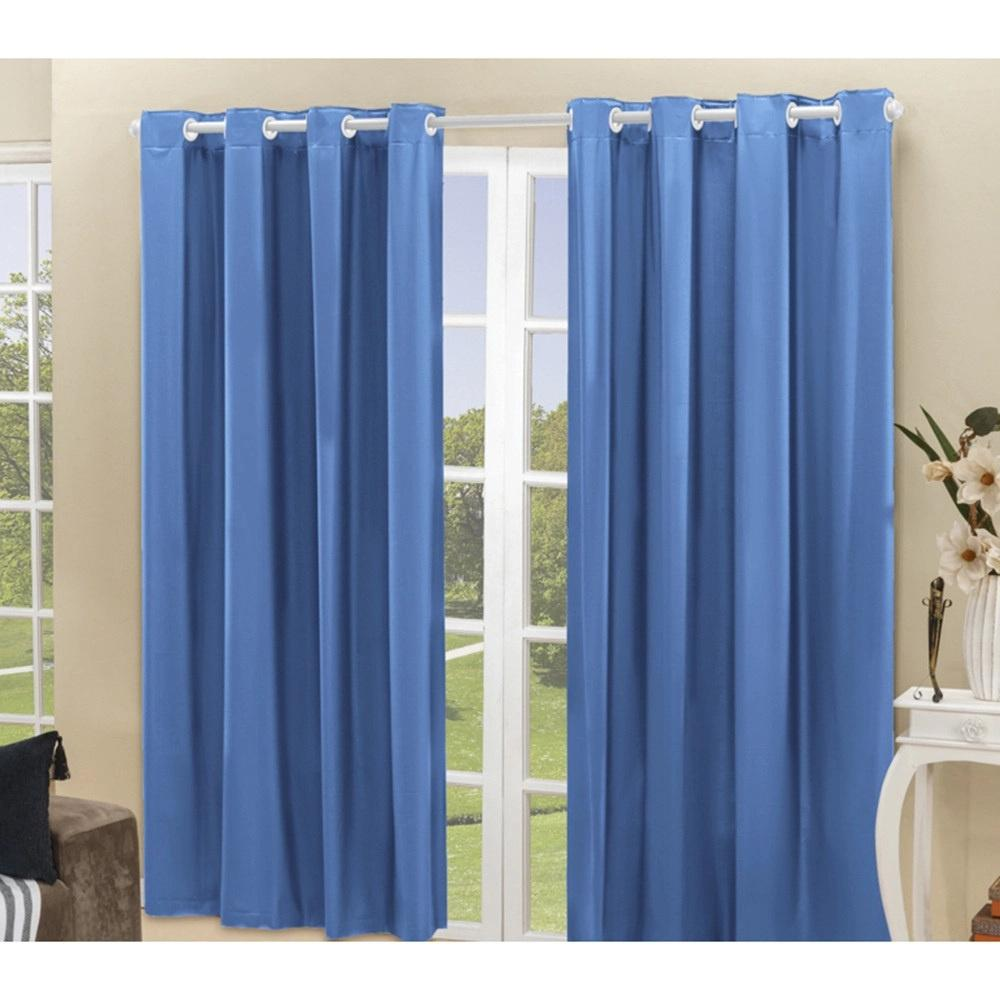 Cortina Blackout PVC corta 100 % a luz 2,80 m x 2,30 m Azul