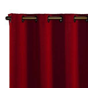 Cortina Blackout Corta Luz 70 % Tecido 4,00 x 2,70 - Vermelho