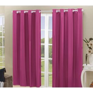 Cortina Blackout PVC corta 100 % a luz 2,80 m x 2,80 m Pink
