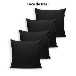 Kit 4 capas de Almofada Modern Print 42 cm x 42 cm - 026