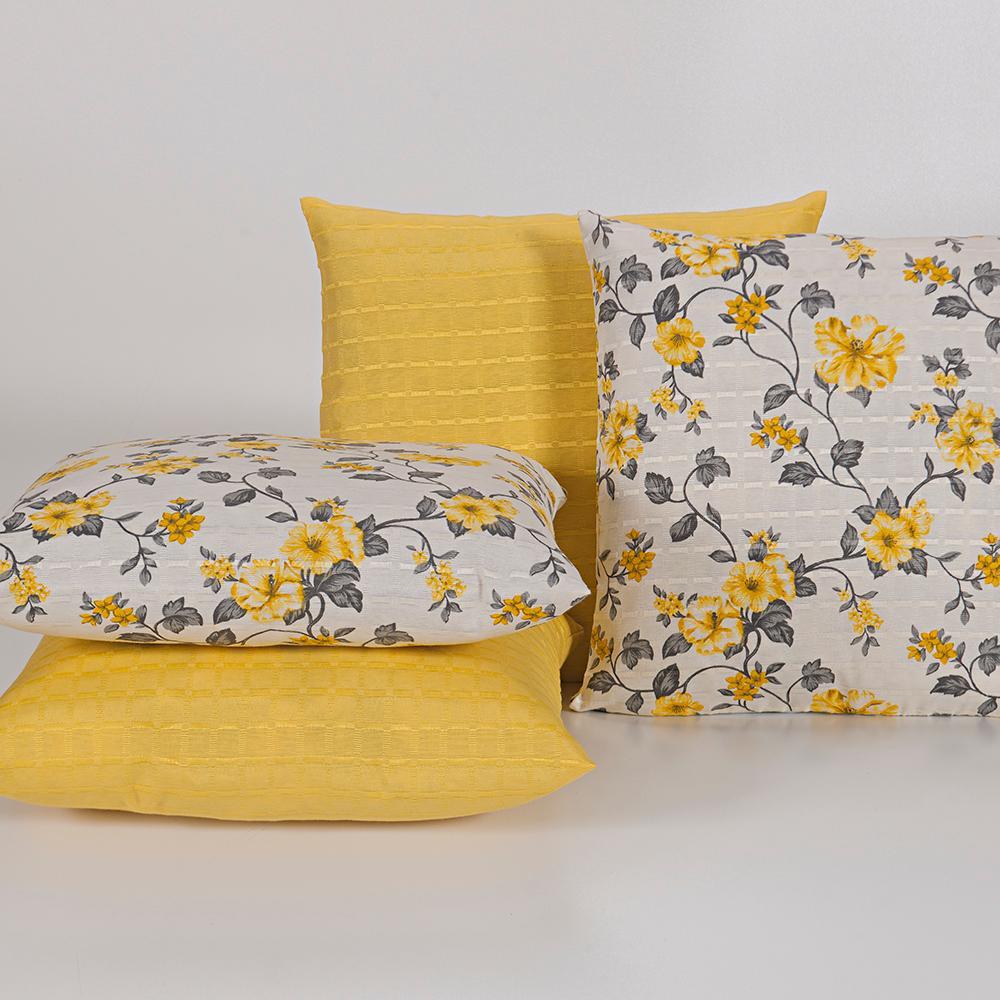 Capas para Almofadas Decorativas 4 Peças Amarelo