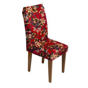 Capa De Cadeira Guilherme Confecções Kit 4 Pcs Flor Vermelho