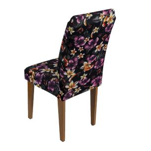 Capa De Cadeira Guilherme Confecções Kit 6 Pcs Flor Violeta