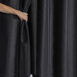 Cortina Blackout PVC com Tecido Voil 2,00 m x 1,40 m Preto