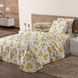 Cobre leito Classic King 03 Peças - Floral Poá