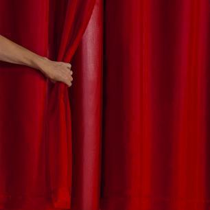 Cortina Blackout PVC com Tecido Voil 2,80 x 1,80 Vermelho