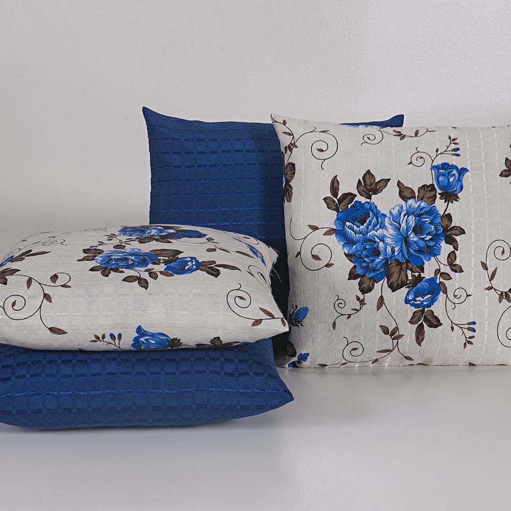 Capas para Almofadas Decorativas 4 Peças Azul