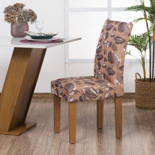 Capa De Cadeira Guilherme Confecções Kit 4 Peças Arenosa