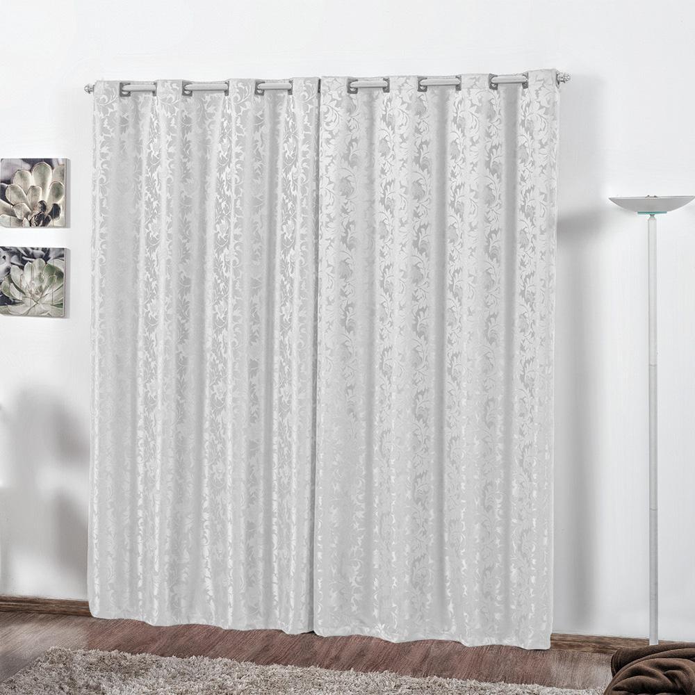 Cortina Jacquard Rafaela 2,80m x 2,30m Branco
