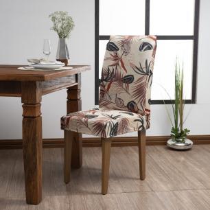 Capa De Cadeira Guilherme Confecções Kit 6 Peças Boho
