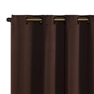 Cortina Blackout Corta Luz 70 % Tecido 2,80 x 2,30 - Tabaco