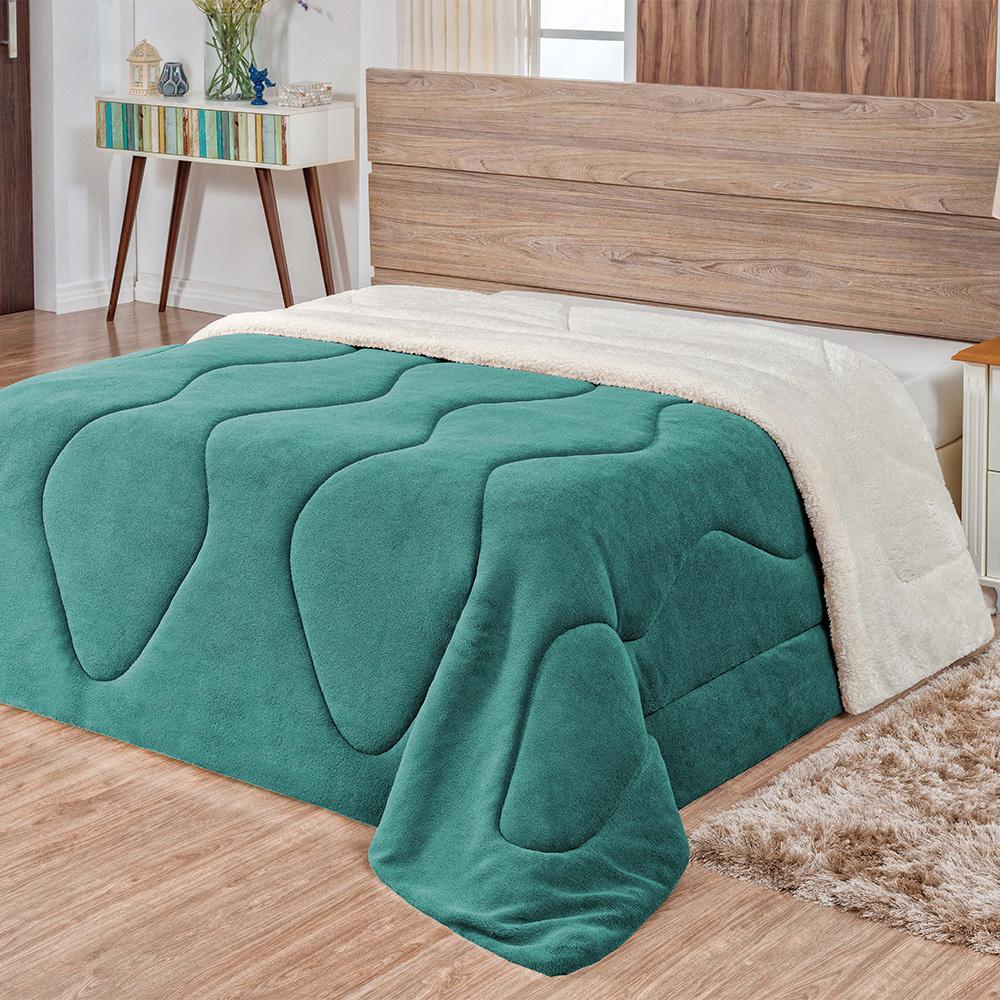 Coberdrom Casal Sherpa / Manta Soft  Verde tifanny