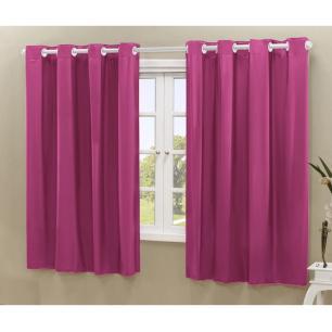 Cortina Blackout PVC corta 100 % a luz 2,20 m x 1,30 m Pink