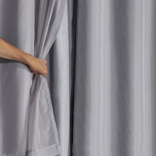 Cortina Blackout PVC com Tecido Voil 2,80 m x 2,30 m Cinza