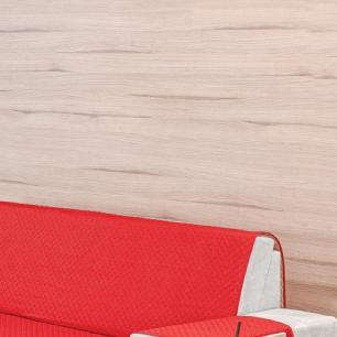 Protetor para Sofá 3 Lugares Dupla Face Vermelho/Avelã