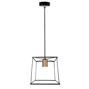 Pendente tipo Industrial, Lamp Show, 150x20x20, metal preto