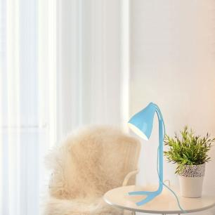 Abajur luminária de mesa 43x18 Metal azul