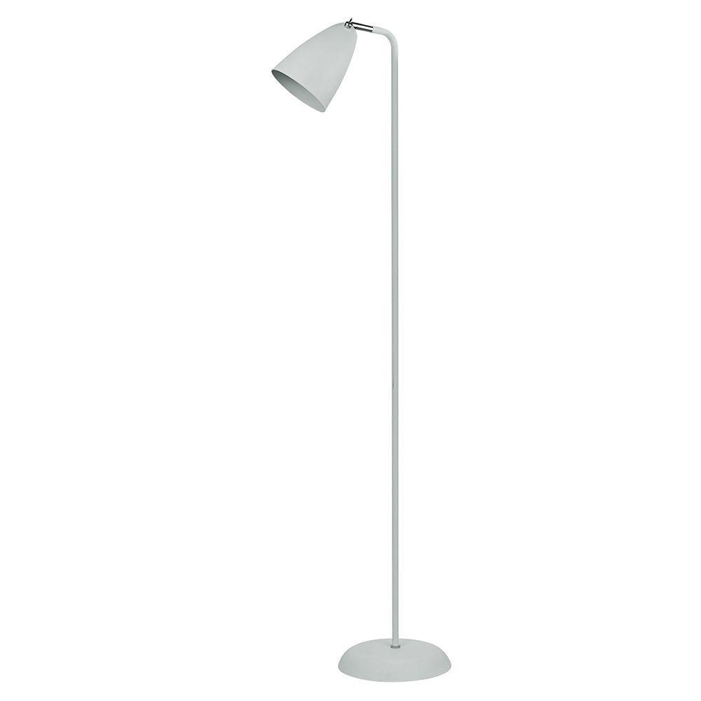 Coluna abajur de piso metal branco 142cm