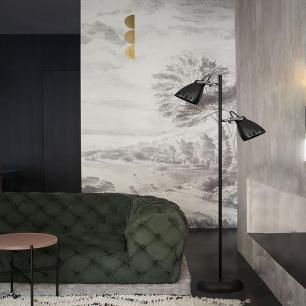 Coluna de piso abajur de chao para sala 158cm metal preta