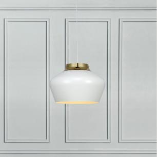 Pendente Lustre para sala 178x41x41 dourado e metal branco