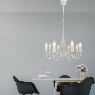 Lustre Pendente para mesa 100x51x51 metal branco