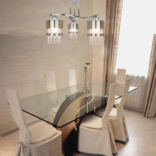 Lustre Alexandria, vidro e cristal 44x45x12