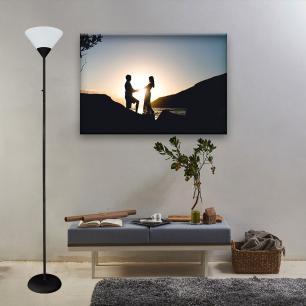 Luminária de Chão Abajur Metal e Plástico Preto 178cm