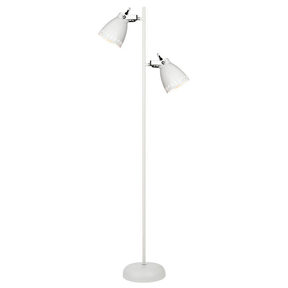 Coluna de piso abajur de chao para sala 158cm metal branca