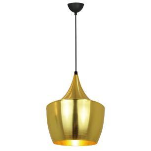 Pendente lustre 110x52x32 alumínio dourado