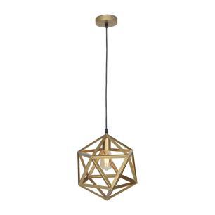 Pendente lustre para mesa 135x35x35 metal dourado fosco