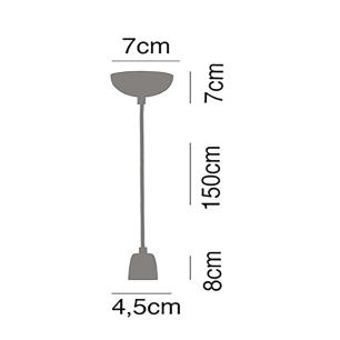 kit 2 pendentes soquete branco e preto com globo de vidro