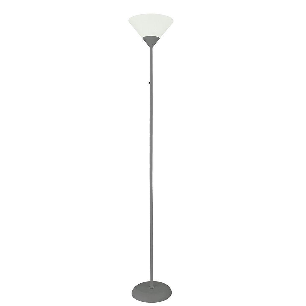 Coluna de Chão 175cm metal e plástico cinza