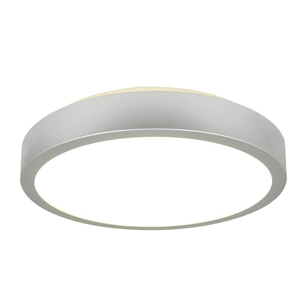 Plafon LED 30x9cm metal e plástico cor branco led inclusa