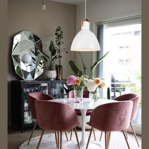 Pendente Lustre Luxo alça em couro 188x35x35 Metal Branco
