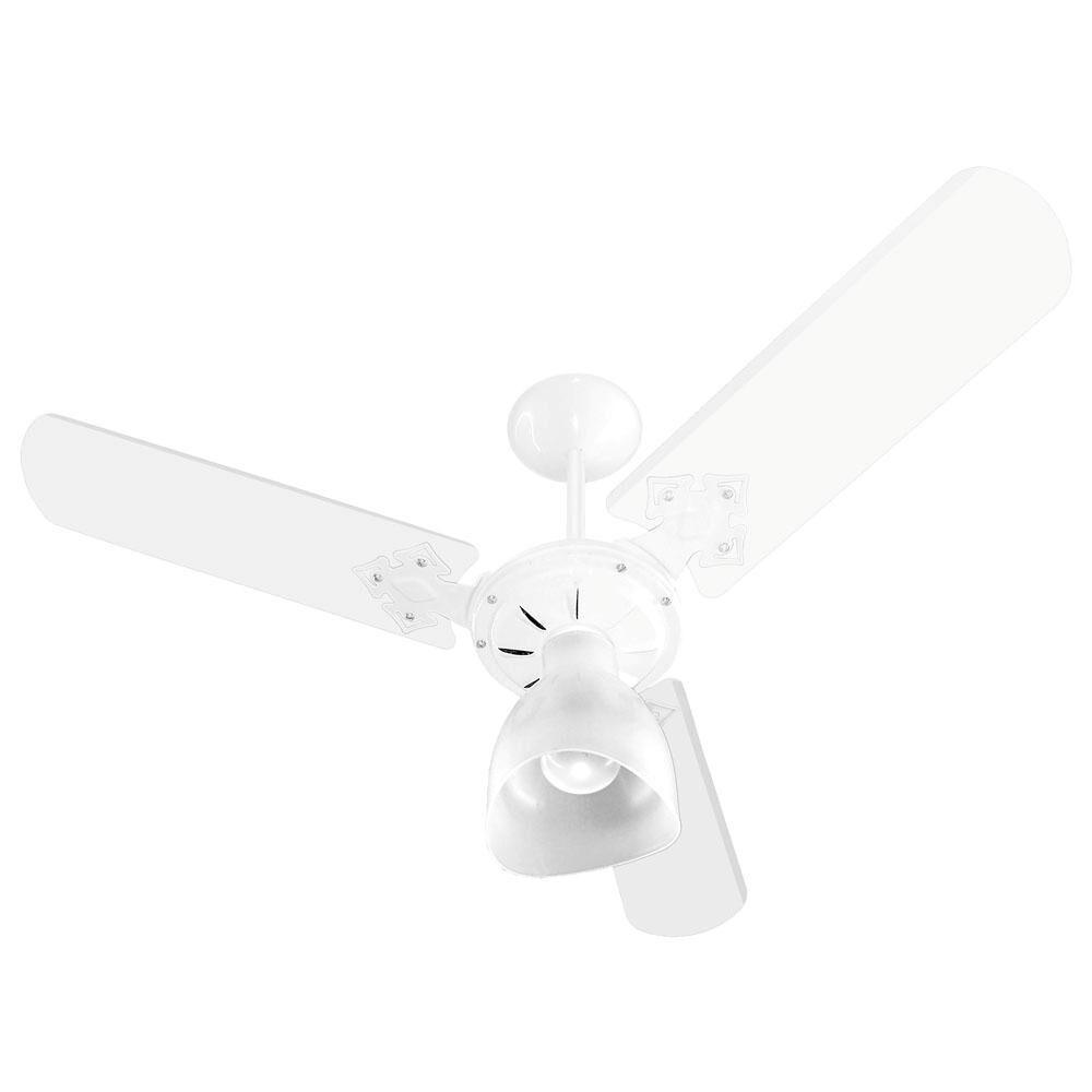 Ventilador De Teto New Delta Light Taça 3p Branco