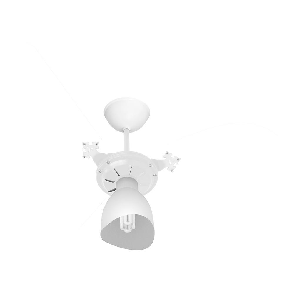 Ventilador De Teto Cristal Light 3p Bco/Transp Ventidelta