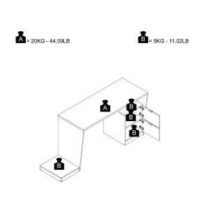 Escrivaninha Gamer 2 Gavetas Preto (Bmg 01-153) - Brv Móveis