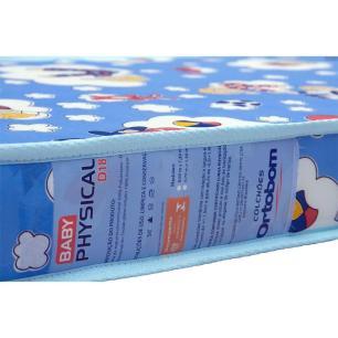 Colchão Infantil Espuma Physical D18 Azul- Ortobom 10x60x130 - 1040419751