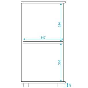 Mesa De Cabeceira 1 Porta Branco (Bho 139-06) - Brv Móveis