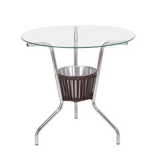 Conjunto De Mesa Com 4 Cadeiras Cjmb401153 - Castanho - Alegro