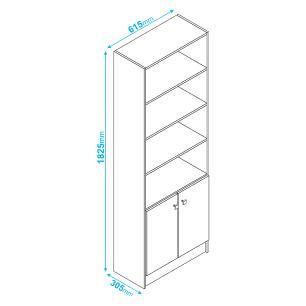 Livreiro 2 Portas Branco (Bl 03-06) - Brv Móveis
