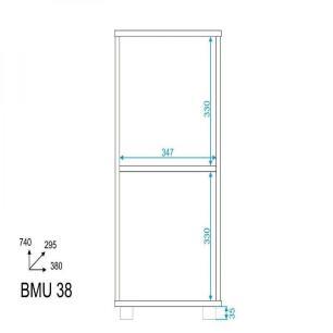 Armário Multiuso 1 Porta Branco (Bmu 38-06) - Brv Móveis