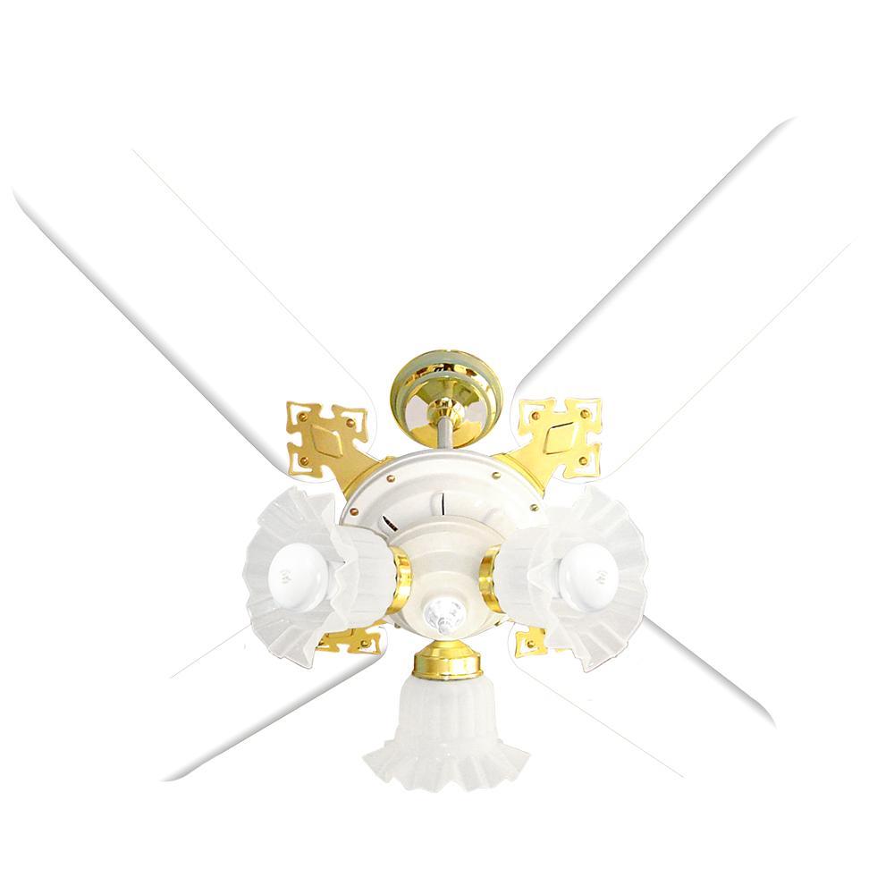 Ventilador De Teto New Zeta 4p Branco Ventidelta